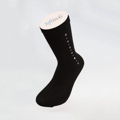 Луксозни едноцветни чорапи с мотив