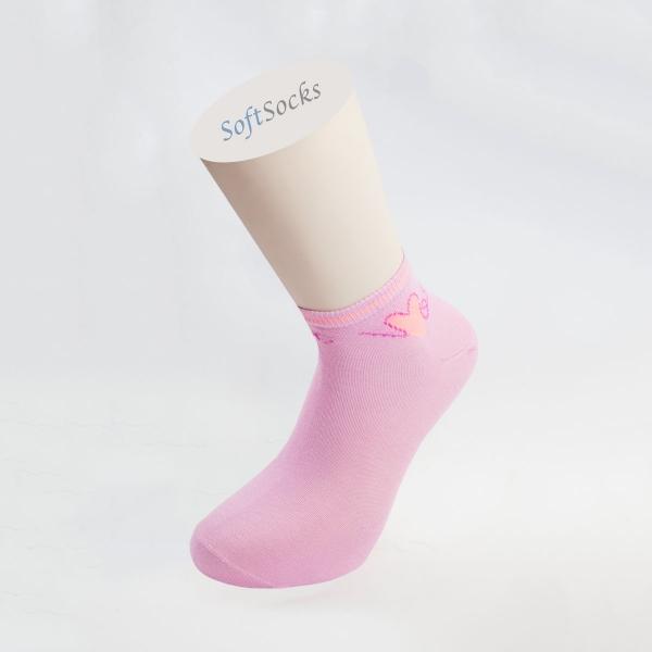 Чорапи тип терлик с мотив сърце
