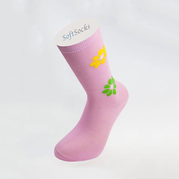 Гладки чорапи с мотив цветя