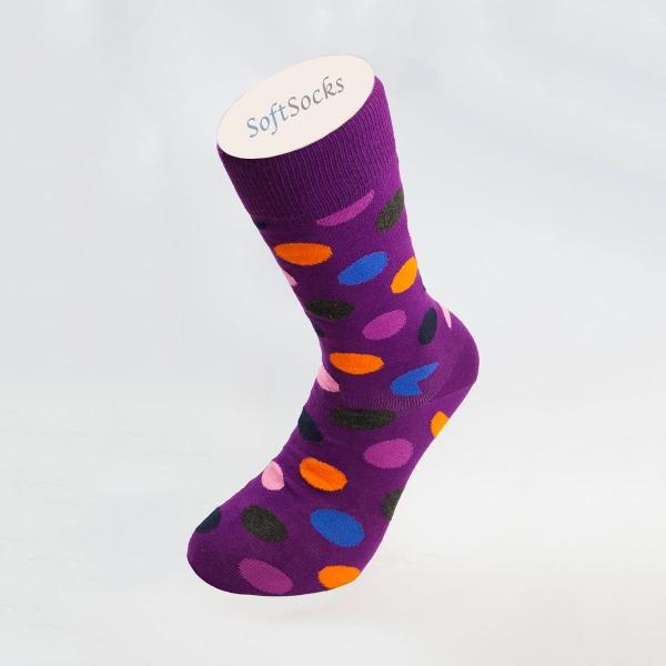 Гладки чорапи на шарени точки
